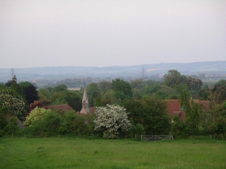 All Saints from Blewburton Hill