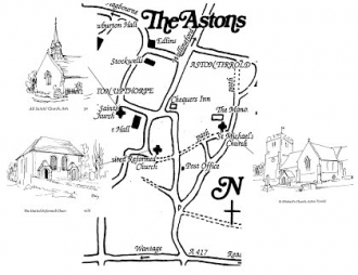 Astons churches map