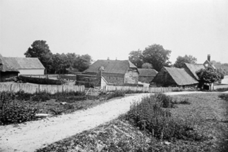 Old road between Thorpe Farm & Frimley Stables (no longer in existence)