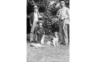 George Fuller (on the right) and family