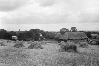 Hagbourne Road, looking  south towards Acacia Cottage - now Langford Cottage